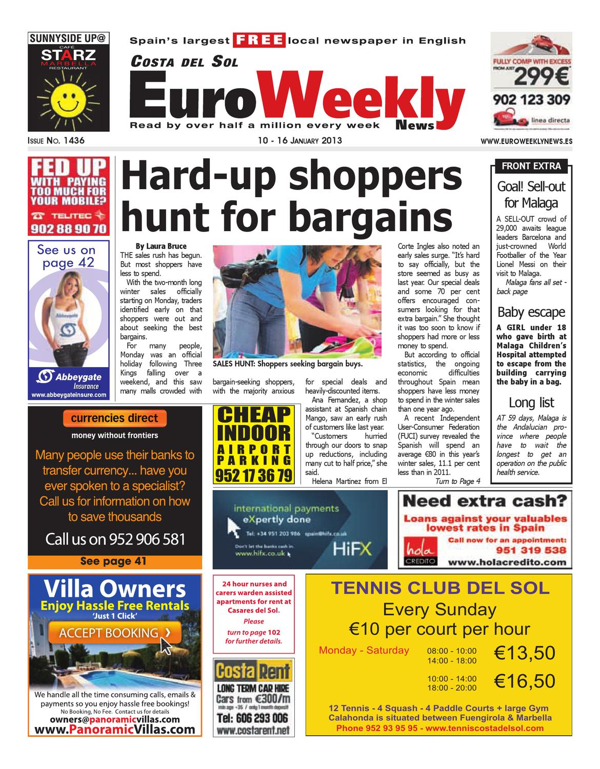 Costa Del Sol 10 16 January 2013 Issue 1436 By Euro Weekly News  # Muebles Santos Boqueixon