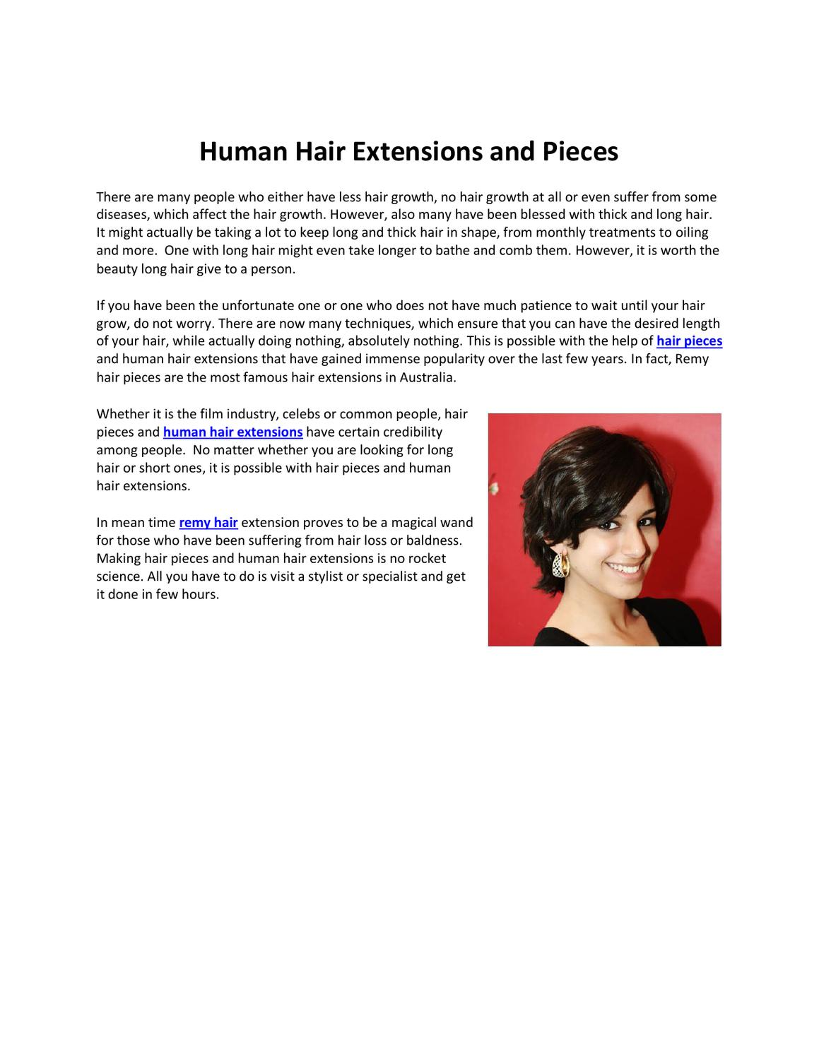 Human Hair Extensions And Pieces By Waks Wigs Issuu