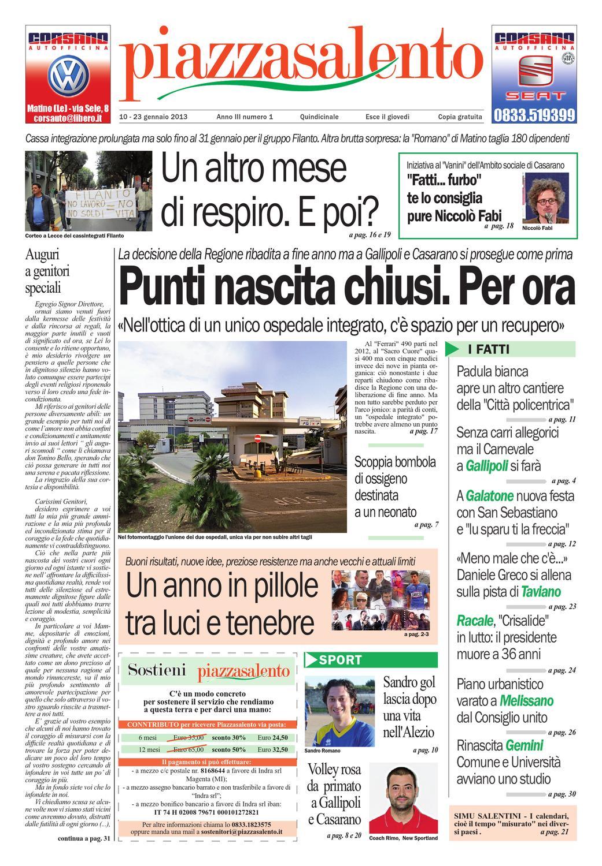 Piazzasalento n1 by Lucio Colavero - issuu bfafd7a14631