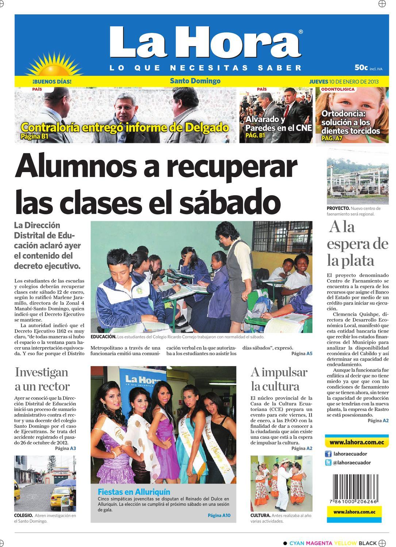 Edici N Impresa Santo Domingo Del 10 De Enero De 2013 By Diario La  # Muebles Nilda House Quito