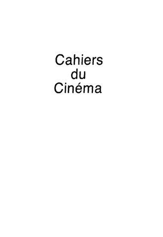 CAHIER DU CINEMA by Forum Lenteng - issuu