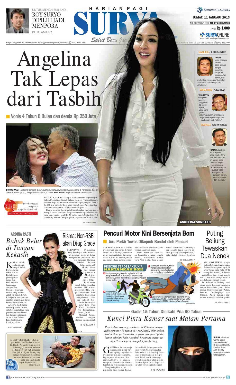 E Paper Surya Edisi 11 Januari 2013 By Harian Issuu Edie Pink Top Leux Studio Merah Muda M