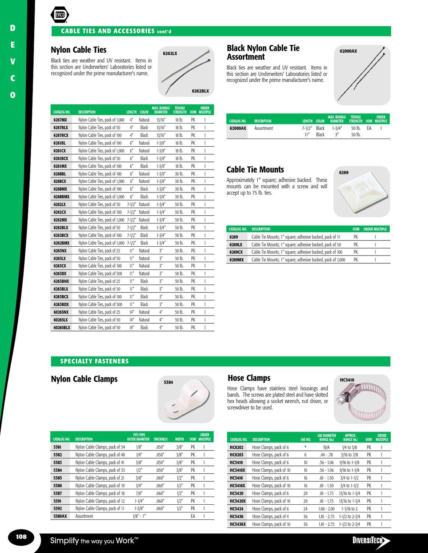 Diversitech 6263LX Cable Tie