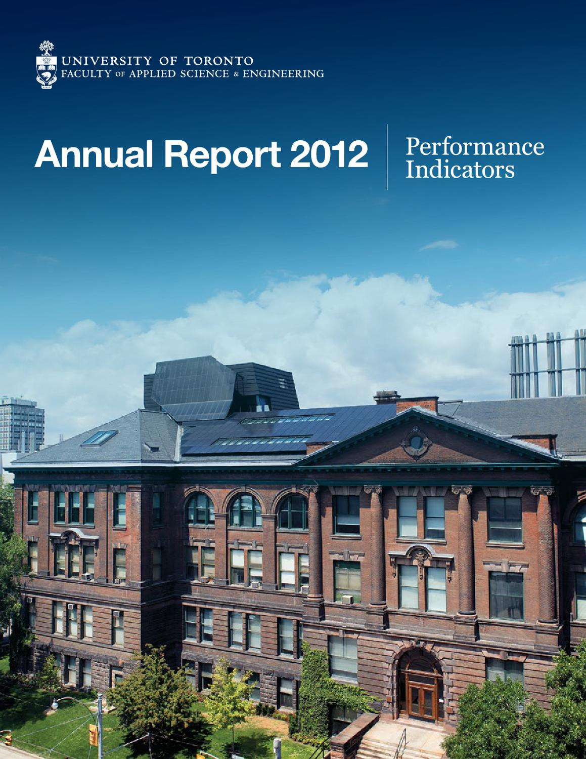 Performance Indicators 2012 Faculty Of Applied Science