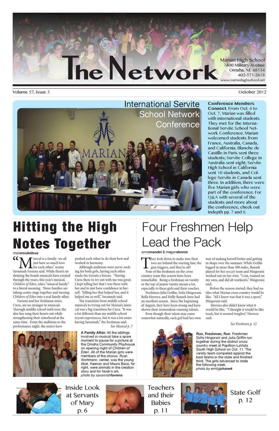 Marian Network Student Newspaper Oct 12 by Marian Network