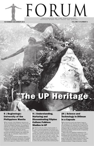 Up Forum November December 2012 By University Of The