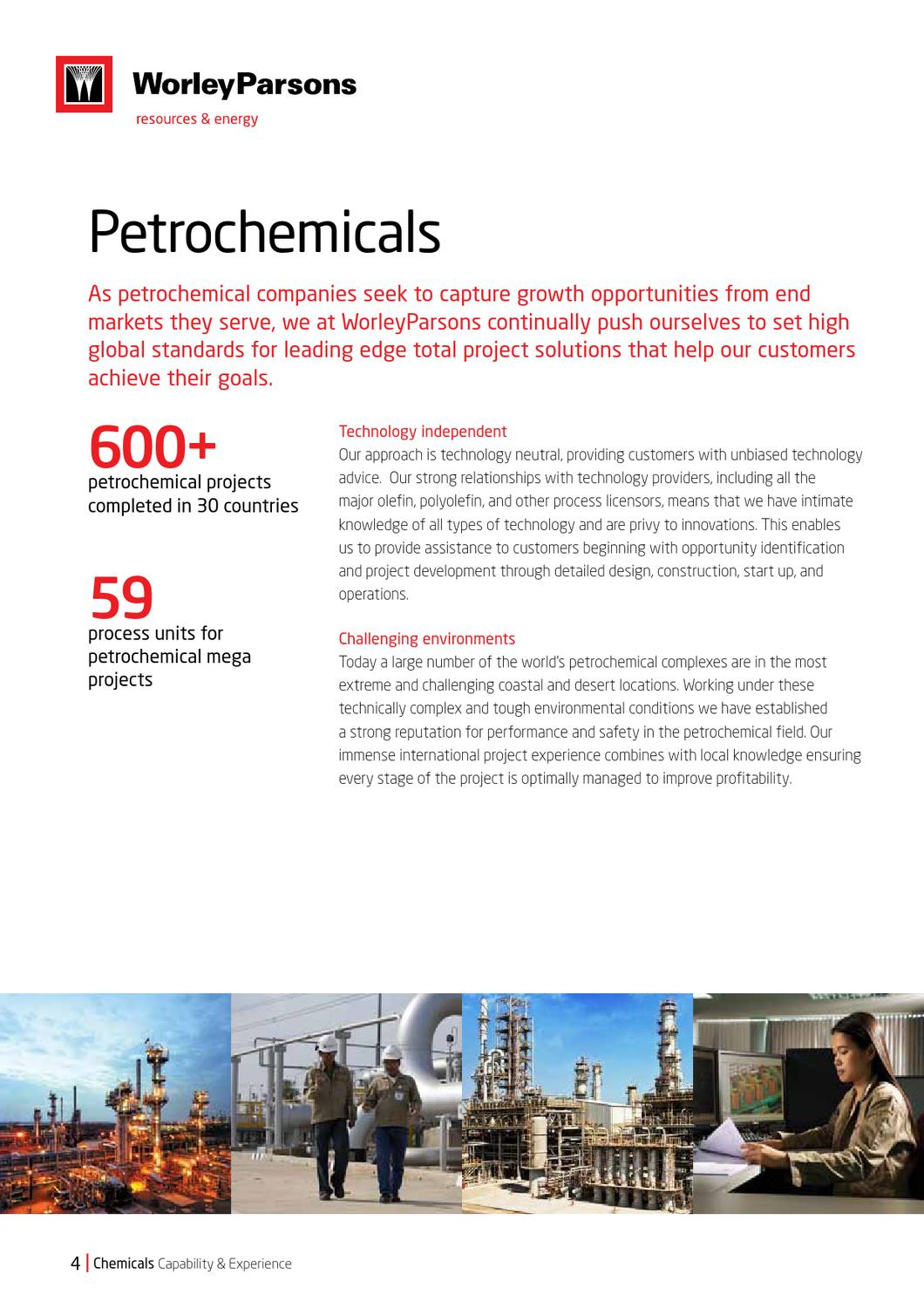 Chemicals Capability and Experience brochure