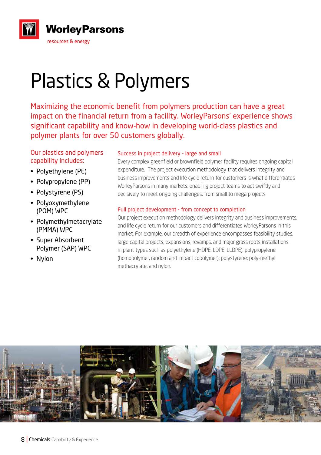 Chemicals Capability and Experience brochure by