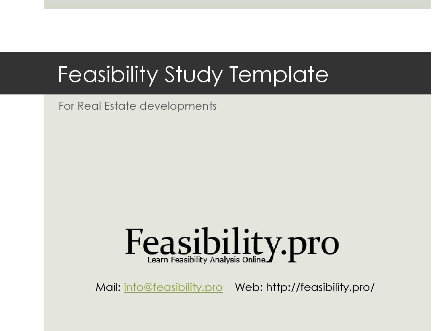 Feasibility Study Template by Feasibility Pro - issuu