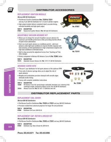 Moroso 72310 Distributor Advance Curve Kit