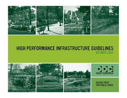 New York City High Performance Infrastructure Guidelines