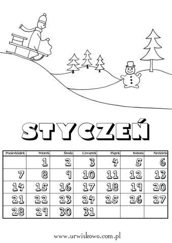 Kolorowanki Zadania Kartypracy Zima Styczen By Agnieszka Troc Issuu