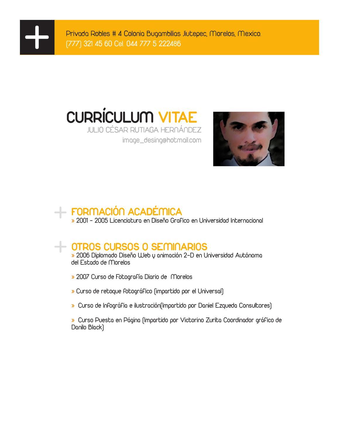 curriculum by Julio Rutiaga - issuu