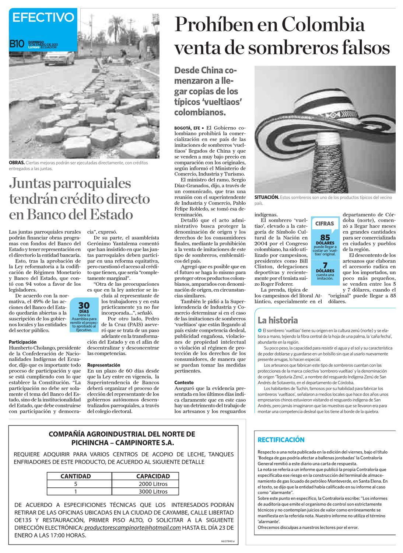 Diario La Hora El Oro 13 de Enero 2013 by Diario La Hora Ecuador - issuu b7b1f2495df