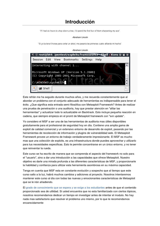 Curso de Metasploit en Español by DragoN JAR - issuu