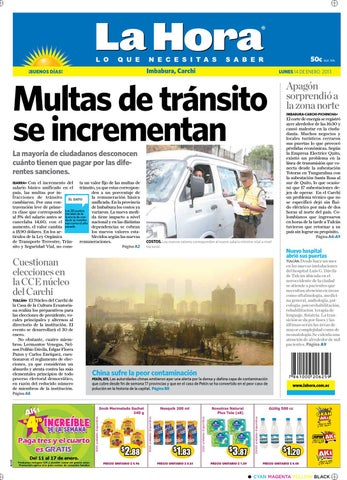 969f52466926 Edición impresa Norte del 14 de enero de 2013 by Diario La Hora ...