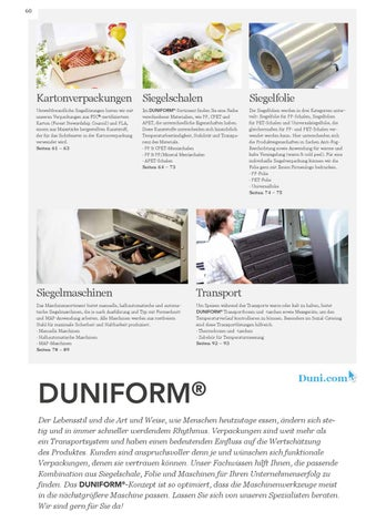 Duni DuniForm by Assist Trend - issuu