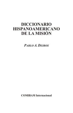 Diccionario Misionología by Willmer Chacon - issuu