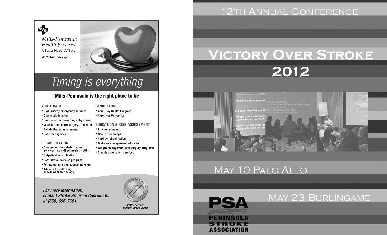 2012 PSA Stroke Conference Program by Pacific Stroke Association - issuu