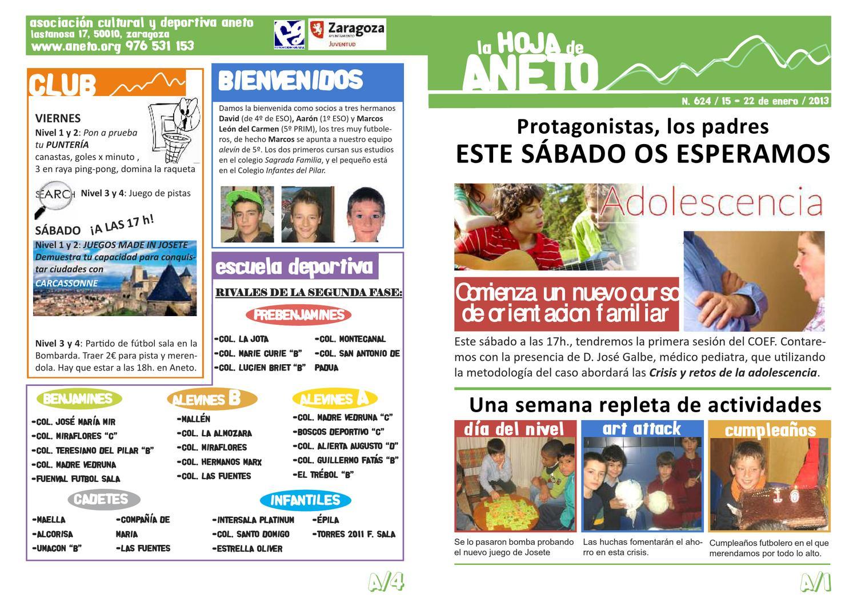 Hoja Semanal nº 624 by Aneto Club - issuu