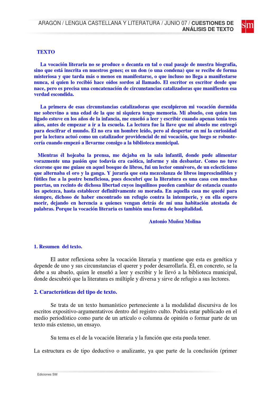 Comentario características del texto resuelto by Manuela Camacho - issuu