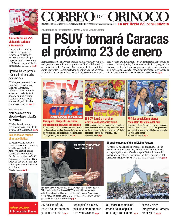 Edición Nº 1.204 by Correo del Orinoco - issuu