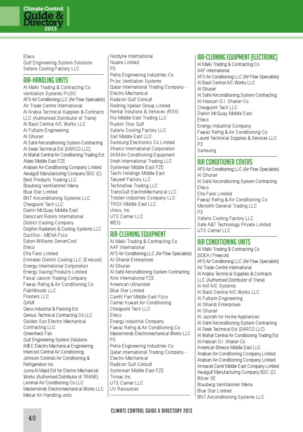 Climate Control Guide & Directory 2013 by CPI Industry - issuu