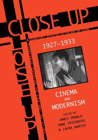 Close Up 1927 1933 Cinema And Modernism By Forum Lenteng Issuu