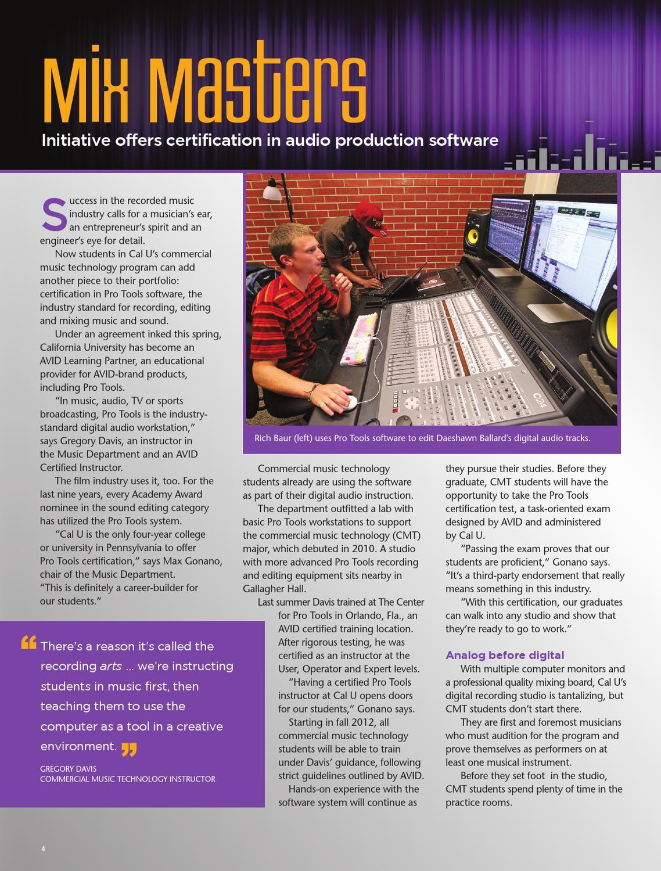 Commercial Music Spotlight By California University Of Pennsylvania