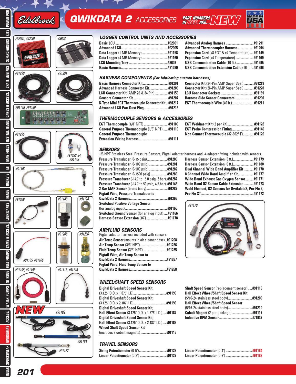 Edelbrock 91195 Shaft Speed Sensor Kit