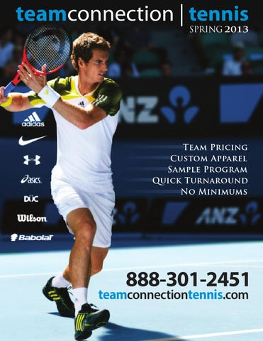 promo code c23c0 c24e2 Team Connection Spring 2013 Tennis Catalog