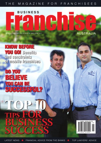 Business franchise aus nz mayjun 2011 by cgb publishing issuu page 1 fandeluxe Gallery