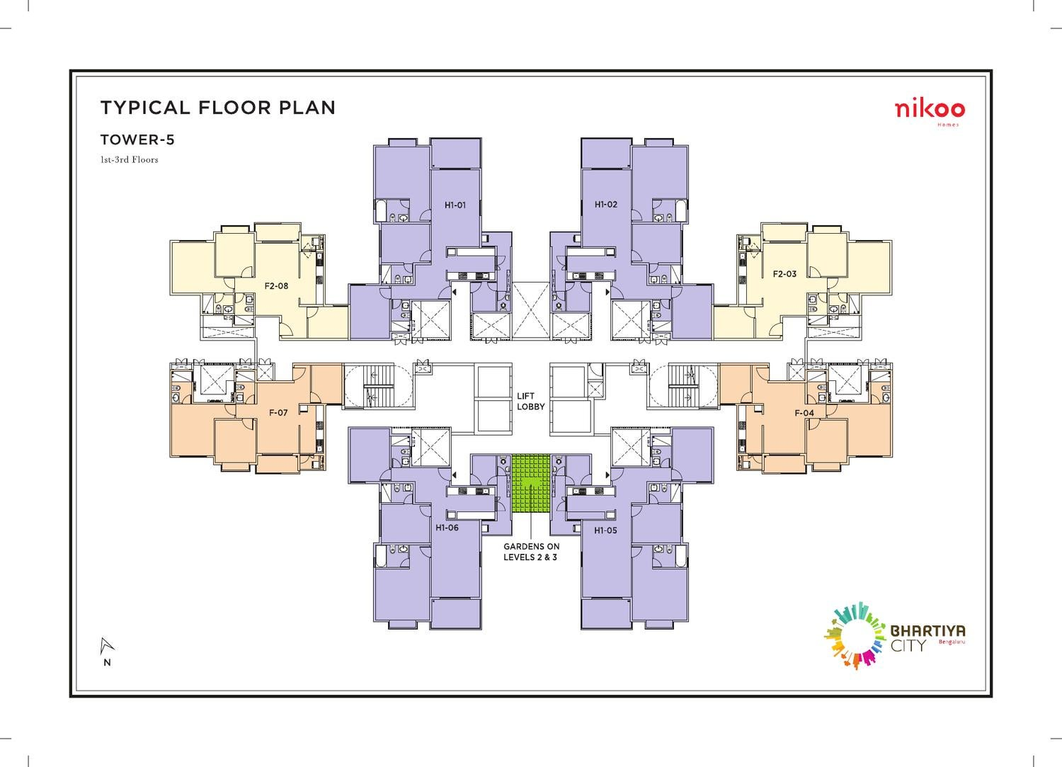 Tower 5 6 nikoo homes floor plans by bhartiya city issuu for City home plans