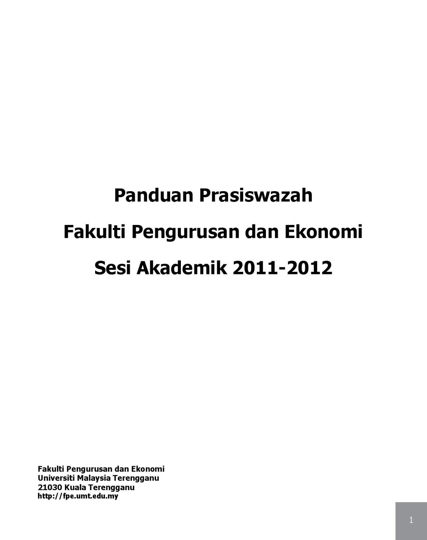 Panduan Prasiswazah Fpe 2012 Final By Umt Malaysia Issuu