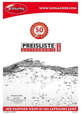 Getränke Schlacher Preisliste Gastronomie by Wolfgang Antal - issuu