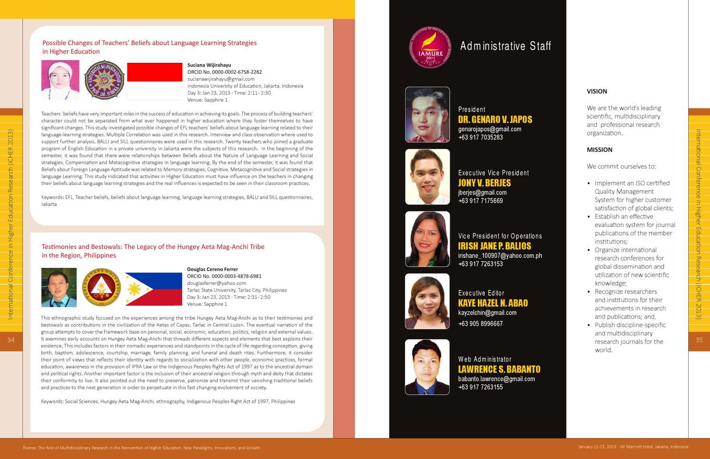 ICHER2013 by IAMURE Multidisciplinary Research - issuu