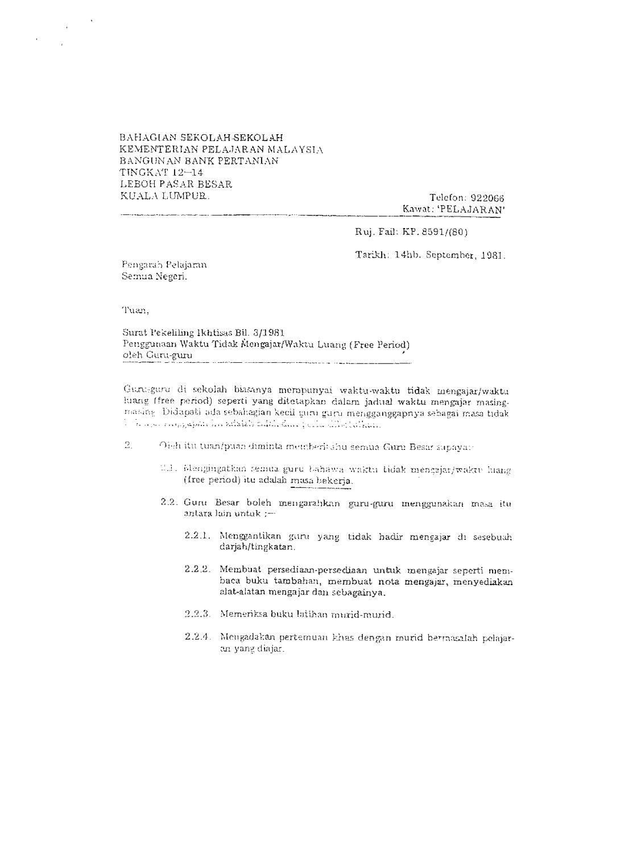 Surat Pekeliling Ikhtisas Bil 3 1981 By Azimah Dollah Issuu