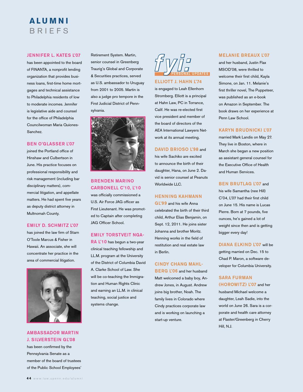 Penn Law Alumni Journal Fall 2012 by Penn Law - issuu