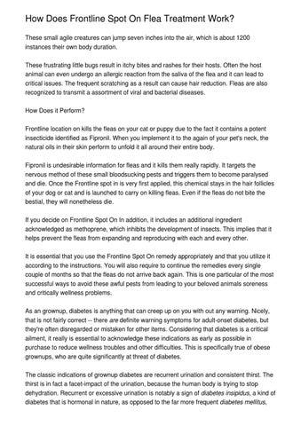 How Does Frontline Spot On Flea Treatment Work By Xavi Melvin Issuu