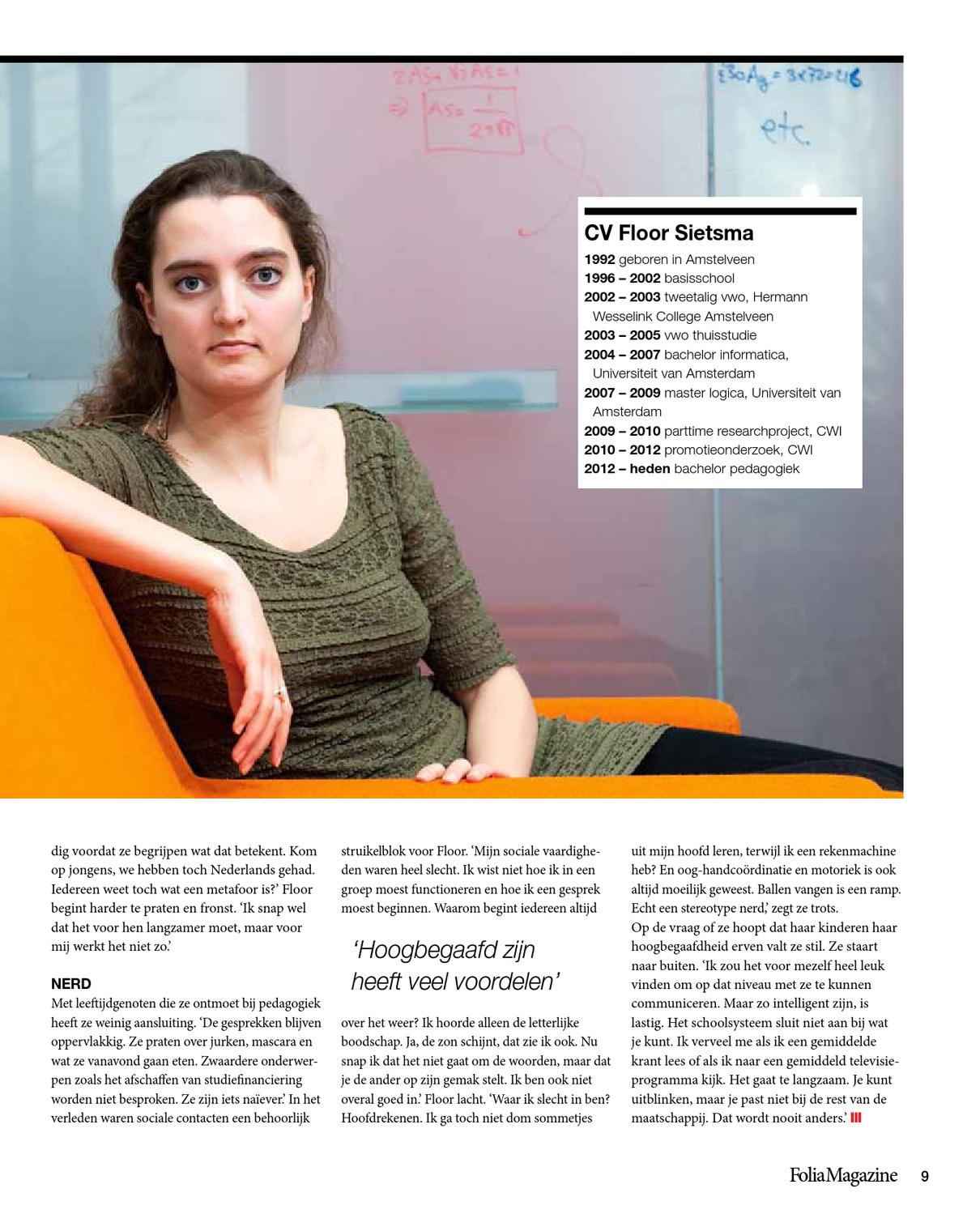 Folia Magazine #16, jaargang 2012-2013 by Folia - Issuu