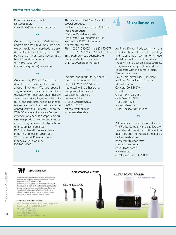Infodent International 1 2013 by Infodent srl - issuu