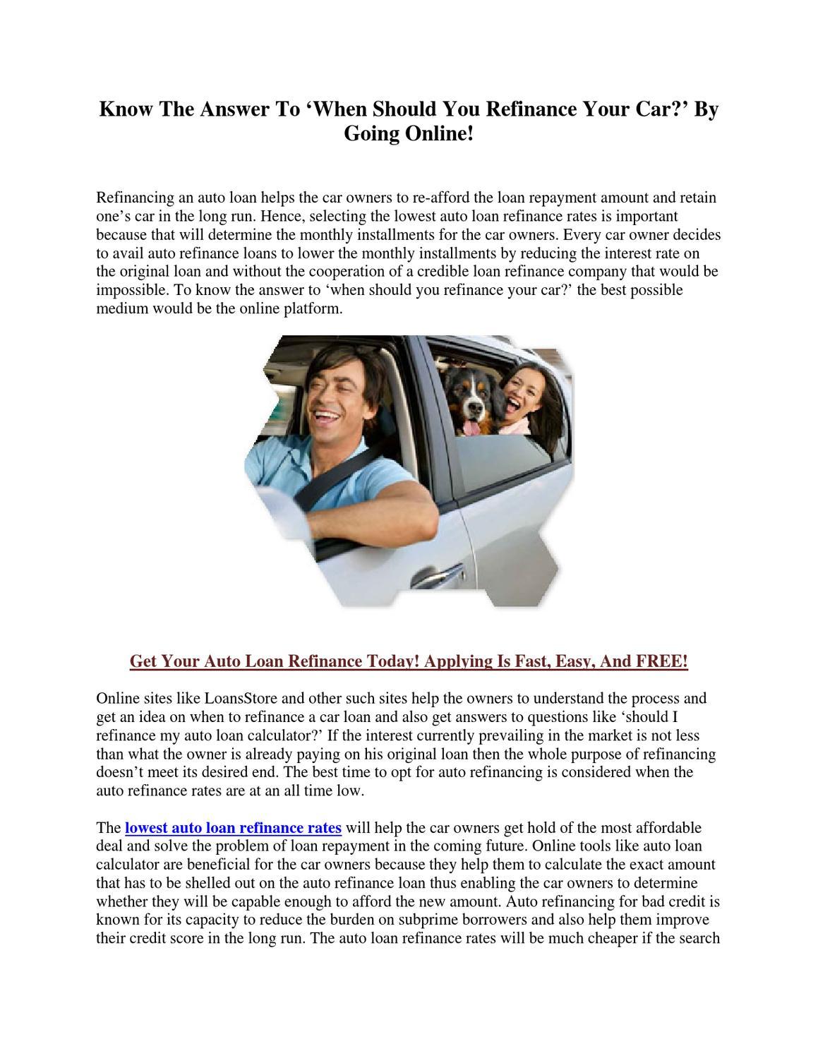 Discover Refinance Car Loan