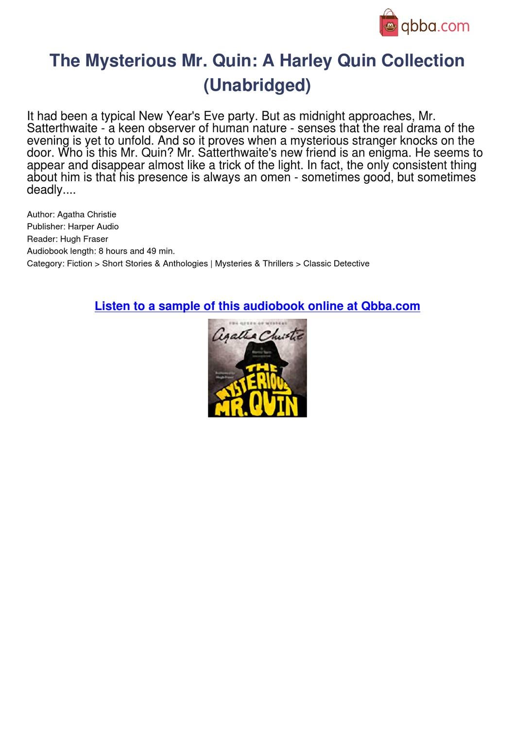 Anthologies Audiobooks Short Mystery Story Collection – Meta