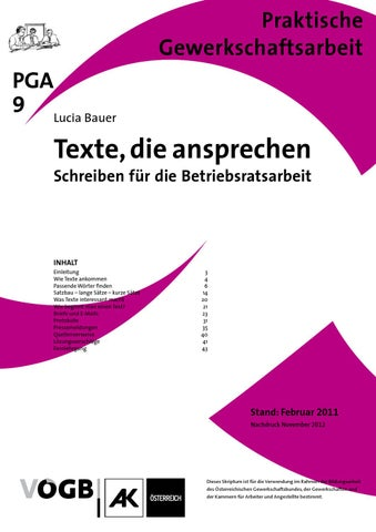 Pga 09textedieansprechen By Vögb Wien Issuu