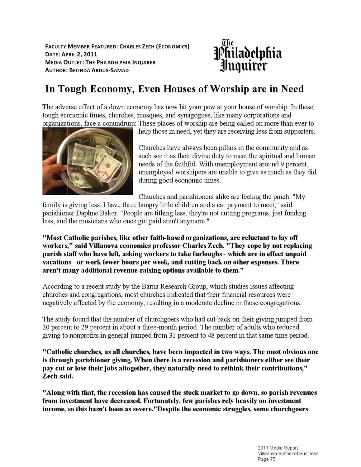 2011 VSB Media Report by Villanova School of Business - issuu