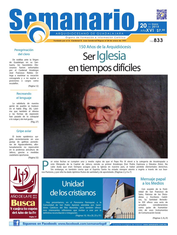 Semanario #833 by Semanario Arquidiocesano de Guadalajara - issuu