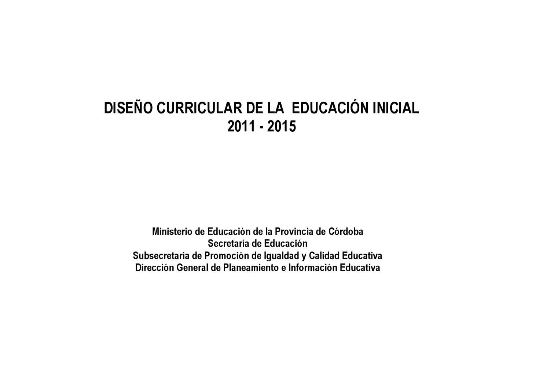 Dise o curricular para nivel inicial parvularia 2011 for Curriculum de nivel inicial
