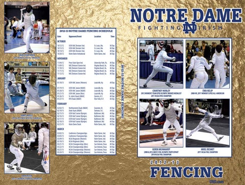 2012-13 University of Notre Dame Fencing Media Guide by