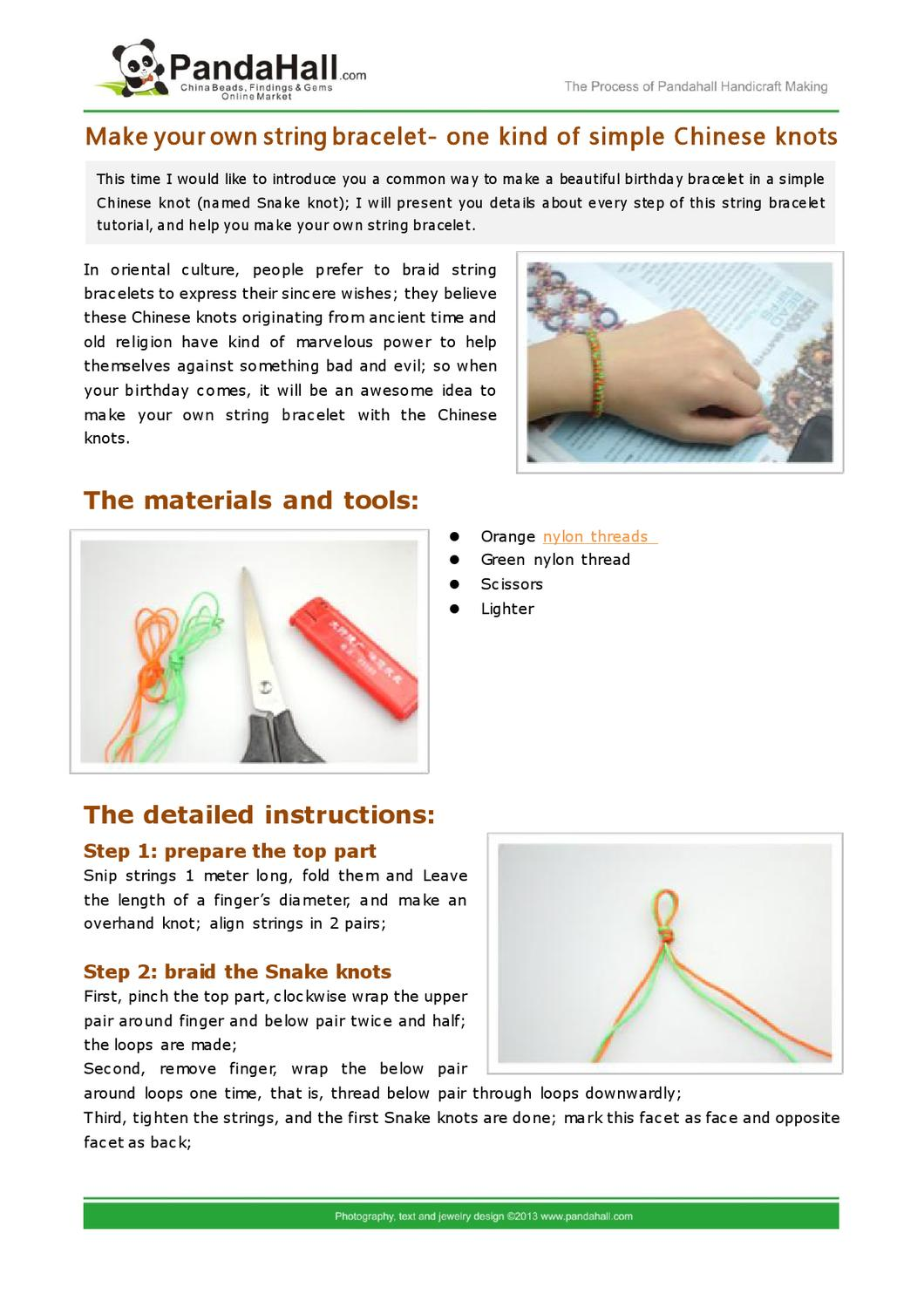 make your own string bracelet by Mike Stone - issuu