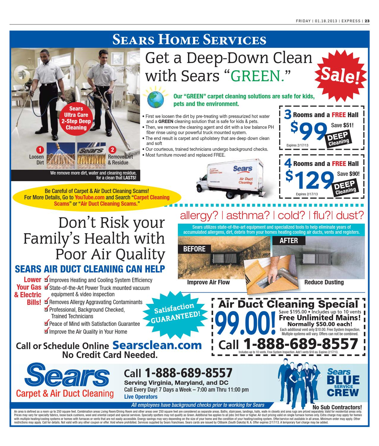 Sears Carpet Cleaning 99 Special Carpet Vidalondon